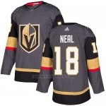 Camiseta Hockey Nino Vegas Golden Knights 18 James Neal Gris Home Autentico Stitched