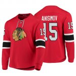 Camiseta Chicago Blackhawks Artem Anisimov Platinum Rojo