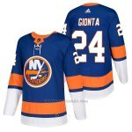 Camiseta Hockey Hombre Autentico New York Islanders 24 Stephen Gionta Home 2018 Azul