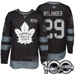 Camiseta Hockey Hombre Toronto Maple Leafs 29 William Nylander 2017 Centennial Limited Negro