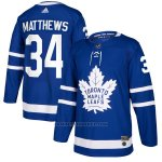 Camiseta Hockey Nino Toronto Maple Leafs 34 Auston Matthews Azul Home Autentico Stitched