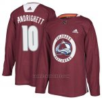 Camiseta Colorado Avalanche Sven Andrighetto Maroon New Season Practice