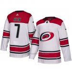 Camiseta Carolina Hurricanes Derek Ryan Autentico Away Blanco