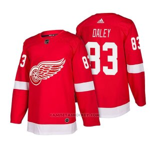 Camiseta Hockey Hombre Autentico Detroit Red Wings 83 Trevor Daley Home 2018 Rojo