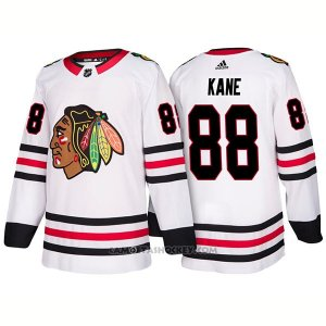 Camiseta Hockey Hombre Male Blackhawks 88 Patrick Kane Away 2018 Blanco