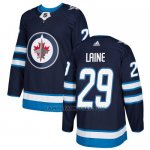 Camiseta Hockey Nino Winnipeg Jets 29 Patrik Laine Azul Home Autentico Stitched