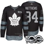 Camiseta Hockey Hombre Toronto Maple Leafs 34 Auston Matthews 2017 Centennial Limited Negro