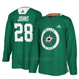 Camiseta Dallas Stars Stephen Johns New Season Practice Verde