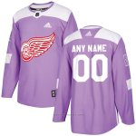 Camiseta Hockey Hombre Detroit Red Wings Personalizada Violeta