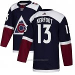 Camiseta Hockey Colorado Avalanche 13 Alexander Kerfoot Alterno Autentico Azul